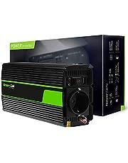Green Cell® 500W/1000W Onda sinusoidal modificada Inversor de Corriente Power Inverter DC 24V AC 220V, Transformador de Voltaje para Camion con Puerto USB y Pinzas de conexión a batería