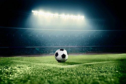 Soccer Ball Corner Kick Stadium Arena Dramatic Photo Mural Giant Poster 54x36 ()