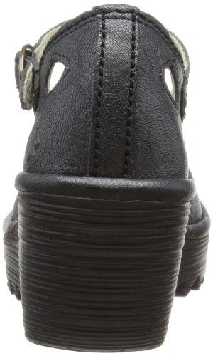 Vlieg London Womens Yuna Sleehak Zwarte Lederen Schoenen 41 Eu