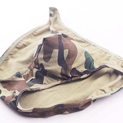 Qianbeili.vk Mens Underwear Soft Combed Cotton Boxer Briefs Plus Size 4Pack