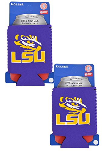 Official National Collegiate Athletic Association Fan Shop Authentic 2-Pack NCAA Koozie 12 Oz Can Cooler (LSU Tigers)