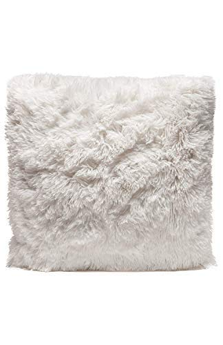 Couture Home Collection Plush Pillow Faux Fur Soft and Comfy Throw Pillow - Cream [並行輸入品] B07RCVC9QQ