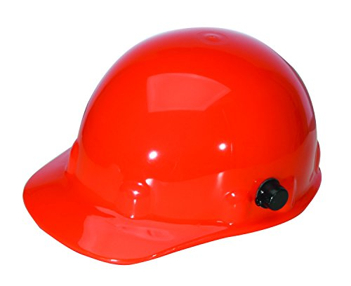 Fibre-Metal by Honeywell E2QSW03A000 Super Eight Swing Strap Cap Style Hard Hat with Quick-Lok, Orange