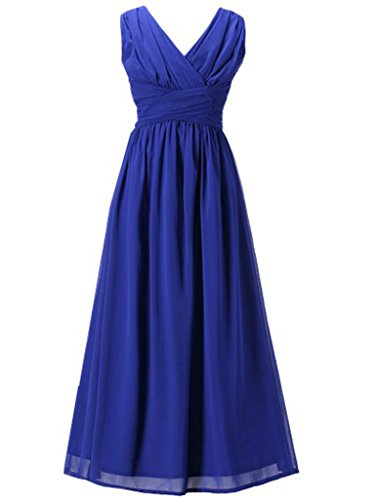 Happy Rose Flower Girl's Dress Party Dresses Juniors Long Bridesmaid Dress Royal Blue 16