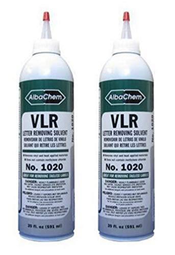 VLR 1020 T-shirt vinyl remover - 20oz Bottle ( 2 Pack.)