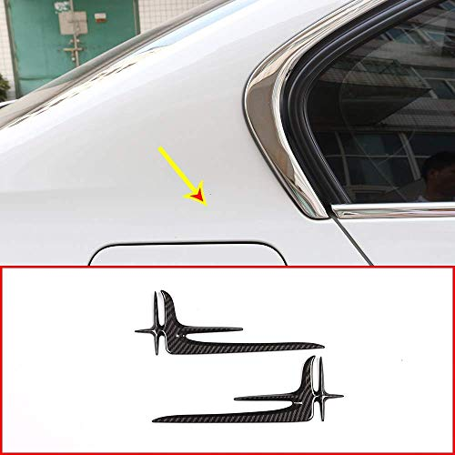 ABS Lengthened Standard Stickers Car Outside Accessories for Mercedes benz E-Class W213 C Class W205 2016-2018 Carbon Fiber