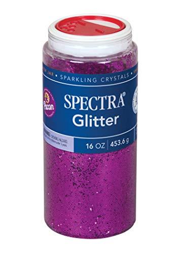 Pacon Spectra Glitter Sparkling Crystals 0091730, 16 Oz. Shaker, Purple