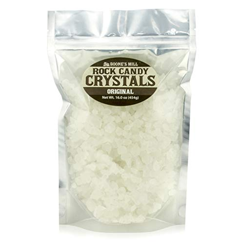 Clear - Original Rock Crystal Candy | 1 Pound In A Resealable Stand-Up Bag | Boone's Mill -