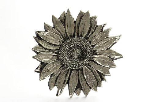 Grillie Sunflower-N Antiqued Nickel Finish Grille Ornament