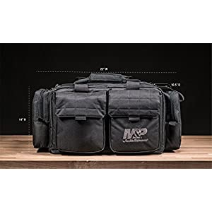 Smith & Wesson M&P by MP Officer Tactical Range Bag with Weather Resistant Material for Gun Pistol Shooting Ammo Accessories and Hunting