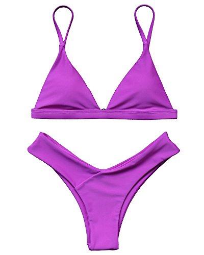 Dark Purple Bikini Set in Australia - 1