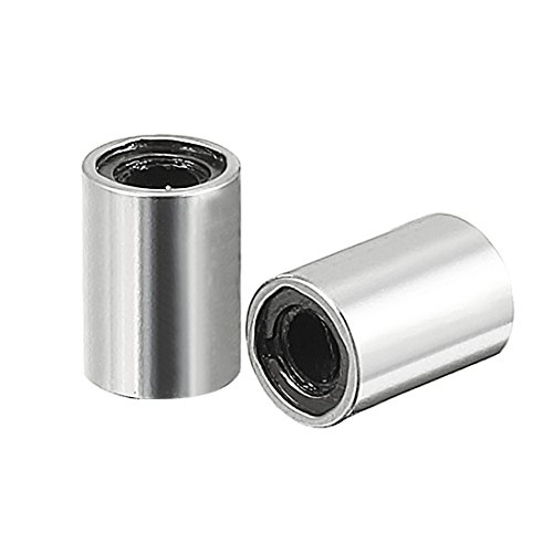 uxcell 2pcs LM3UU 3x7x10mm Double Side Rubber Seal Linear Motion Ball Bearing Bushing