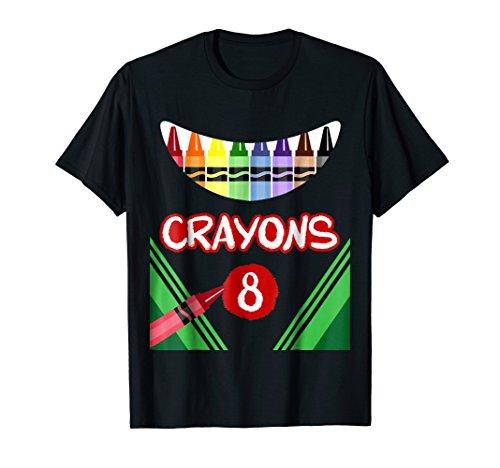 Crayons 8 Scary Crayons Box Monster T-shirt -