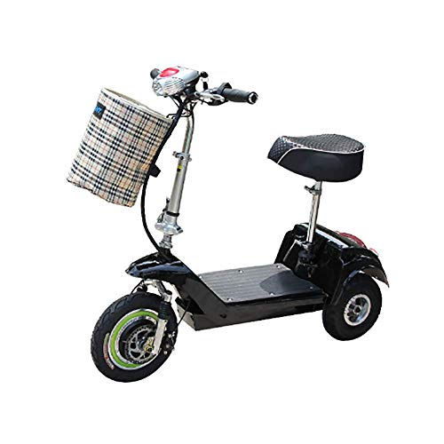 Electric Tricycle Portable Mini Folding Male and Female Bicycle, Speed  25KM/H,Full Charge 20KM Range,Suitable for Travel and Leisure Activities,  Easy