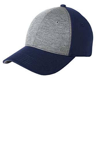 Sport-Tek Men's Jersey Front Cap OSFA Vintage Heather/ True Navy ()