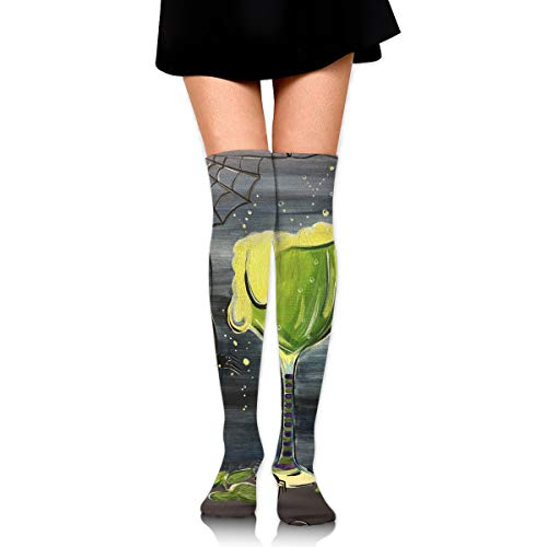Halloween Cocktail Witches Brew Vintage Ankle Stockings Over The Knee Sexy Womens Sports Athletic Soccer Socks -