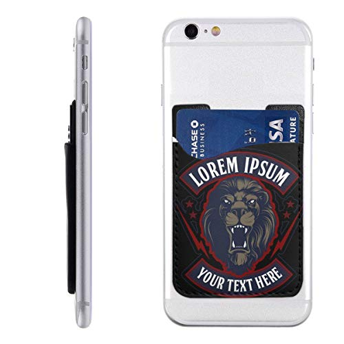 (PHONECARD48 Roaring Lion Head Mascot Mobile Phone Card Package PU 2.4