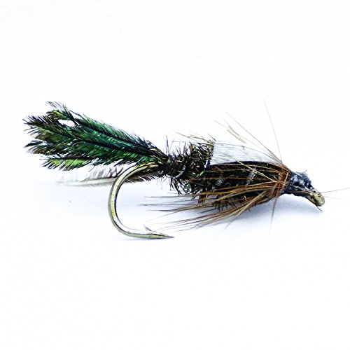 - Feeder Creek Fly Fishing Flies Zug Bug Wet Nymph Pattern - Hand Tied Sizes 12,14,16, 18 Fly Pattern (12)