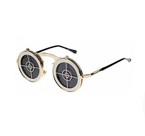 Steampunk retro flip sunglasses influx male and female models metal sunglasses - Models Female Glasses