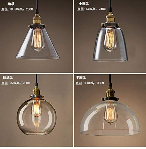 Creative Glass Chandelier American Country Retro Chandelier Western Restaurant Clothing Store bar bar Hang@Triangle_Without Light Source Amber