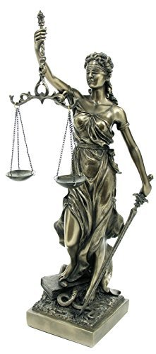Amazoncom Justitia Goddess Of Justice Sculpture Bronze Colour By