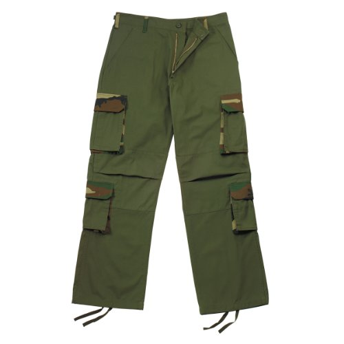 Military Authentic Olive Drab Rigid Accent Fatigues BDU Pants ()
