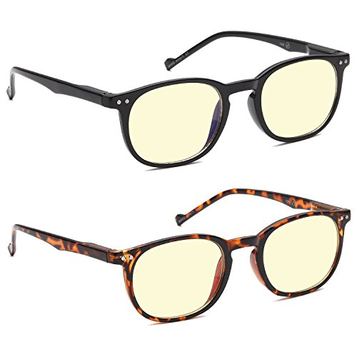 av-superpak-2-pack-computer-and-gaming-glasses-for-monitor-screen-eye-strain-relief-anti-glare-and-n