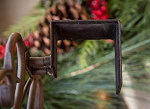[Front Door WREATH HANGER] - Antler Design | ADJUSTABLE Hook Length for Tall and Small Doors | PADDING to Prevent Damage like Scratch and Dents | Heavy Duty Cast Iron Metal Hangar - BROWN Finish
