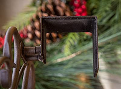 [Front Door WREATH HANGER] - Antler Design | ADJUSTABLE Hook Length for Tall and Small Doors | PADDING to Prevent Damage like Scratch and Dents | Heavy Duty Cast Iron Metal Hangar
