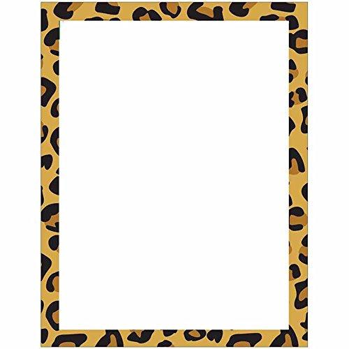 Modern Leopard Animal Print Stationery Letter Paper]()