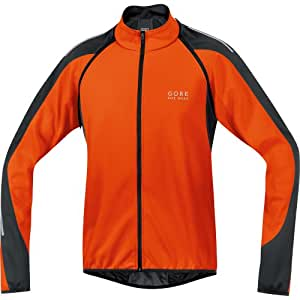 GORE BIKE WEAR Men's Phantom 2.0 Soft Shell Jacket, JWPHAS, Blaze Orange/Black, S