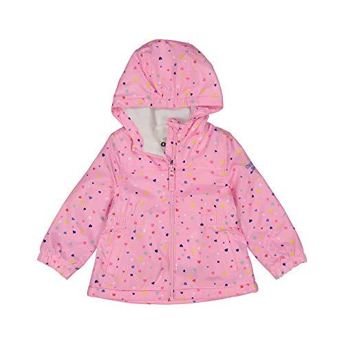 Osh Kosh Girls' Little Midweight Fleece-Lined Anorak, Hearts on Tasha Pink, 5/6