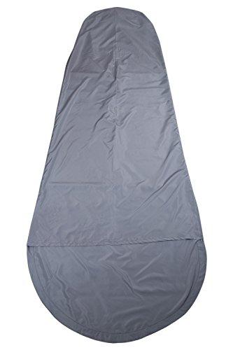 Mountain Warehouse Microfibre Mummy Sleeping Bag Liner - Travel Sheet Light Grey