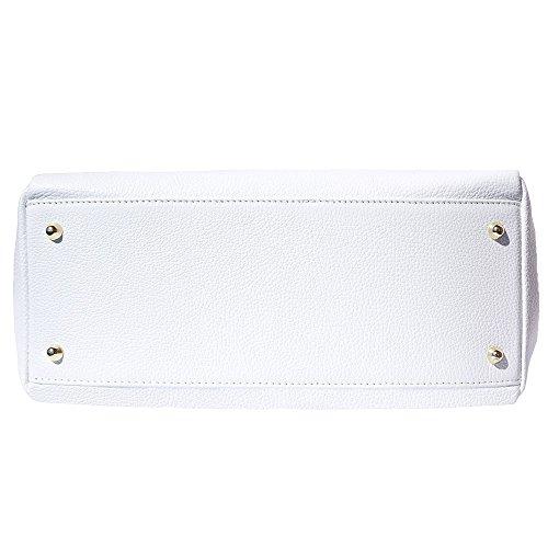 Morbida Vitello Spalla In Mano Florence Leather Vera O Borsa Pelle Bianco Di Market 8058 A 11g7pFHq