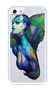 Apple Iphone 5C Case,WENJORS Cute Peacock Queen Soft Case Protective Shell Cell Phone Cover For Apple Iphone 5C - TPU White by lolosakes