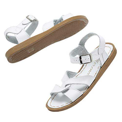 SEMARY Girl's Flat Sandals Open Toe Ankle Strap Buckle Leather Sandal Shoes Outdoor and Indoor (Toddler/Little Kid/Big Kid)