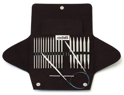 Addi Click Turbo Basic Interchangeable Circular Knitting Needle System with Exclusive Blue Cords by addi