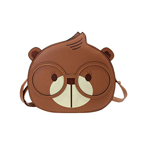 (Kangma Mini Cute Crossbody Bag Squirrel Messenger Shoulder Bags For Leisure & Banquet & Travel & Sport & Shopping)