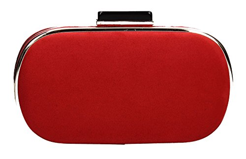 Maeve Prom Trim Box Red Gold Swankyswans Clutch Bag Party Womens FrFBq