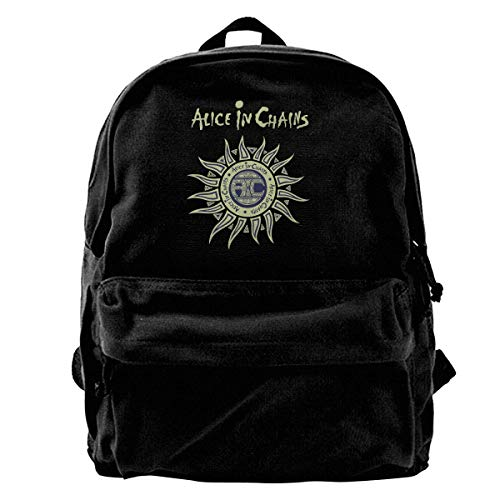 Canvas Backpack Alice In Chains Rucksack Gym Hiking Laptop Shoulder Bag Daypack For Men Women