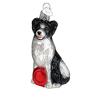 Old World Christmas Ornaments: Border Collie Glass Blown Ornaments for Christmas Tree (12302) 1