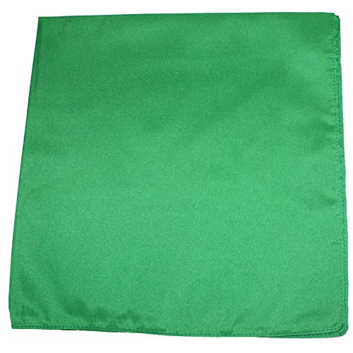 Mechaly Solid Colors 100% Cotton Bandana (Green)