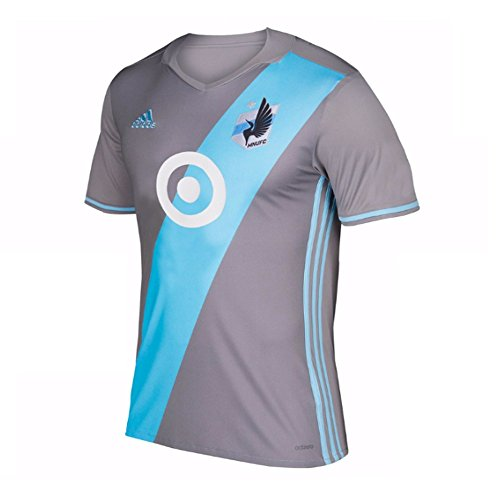 fan products of Men's Minnesota United FC adidas 2017 Gray Authentic Home Jersey, Size Large