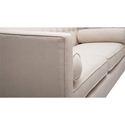 Amazon.com: Brika Home Tufted Double Cushion Sofa in Sky ...