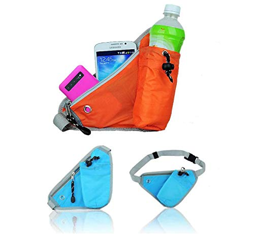 VIHAX Running Pack with Water Bottle Holder, Adjustable Run Belt Storage Pouch with Zipper Pocket for Sports and Travel, Safety Reflective Band, Ideal for Cycling, Fitness(Pack of 1,2,3,4) Price & Reviews