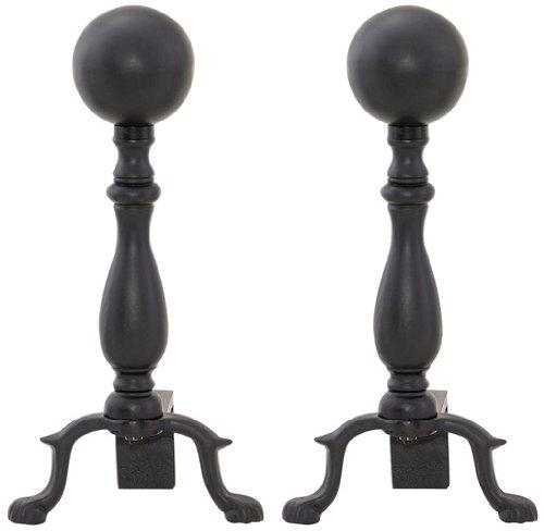 Uniflame, A-1234, Black Ball Andirons