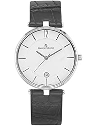 890ST012 Marion Stainless Steel with Black Leather Strap Slim Watch