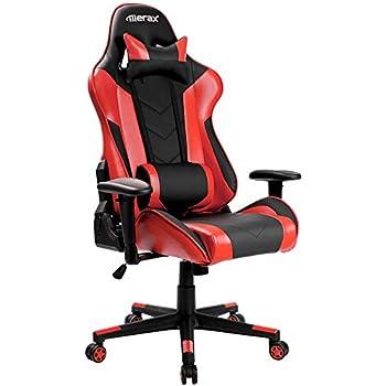 Amazon Com Merax Ergonomic Racing Gaming Chair Swivel