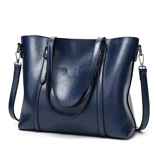 Women bag Women's Leather Handbags Lady Hand Bags With Purse Pocket Women messenger bag,Royal blue ()
