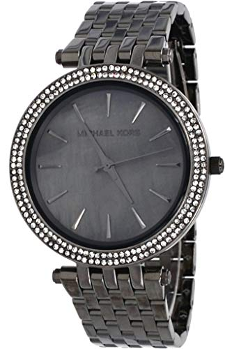 Analog Watch Gunmetal Dial - Michael Kors MK3433 Women's Darci Gunmetal Stainless Steel Grey MOP Dial Analog Watch